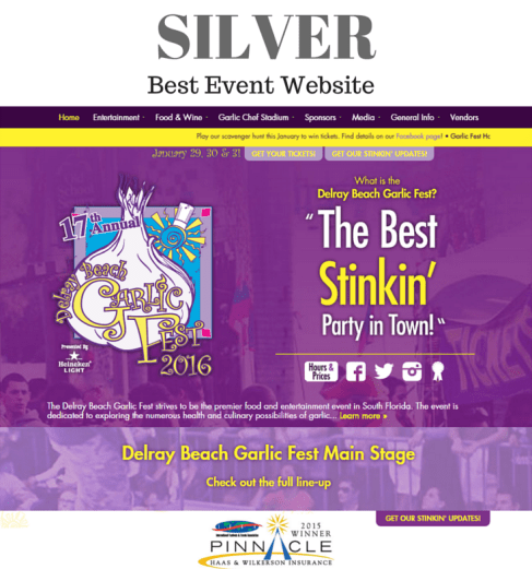 Silver - Best Event Website - GF