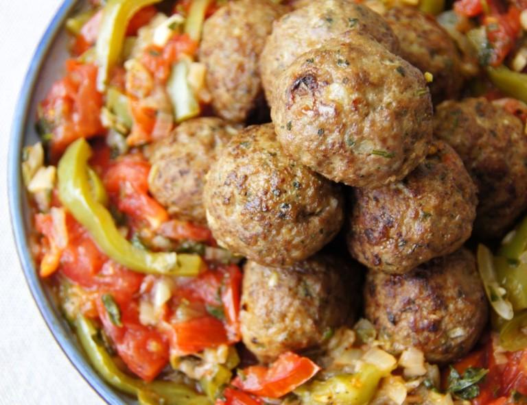 Meatballs & Ratatouille closeup