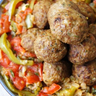 MEATBALLS WITH SIMPLE RATATOUILLE