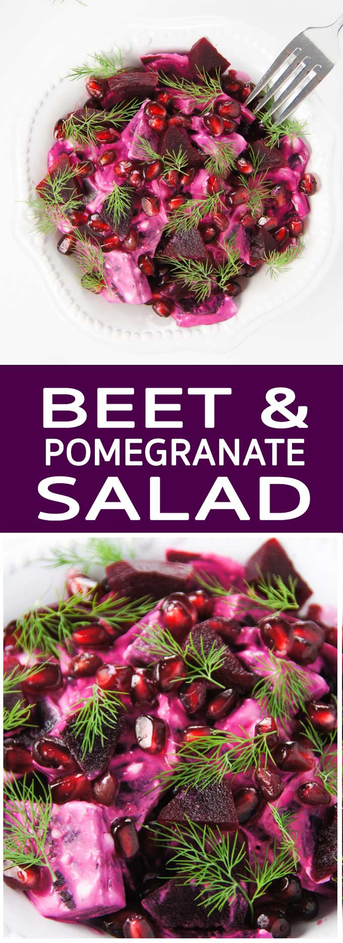 Easy Pomegranate and Beet Salad is a great idea for including more antioxidants, detox and health boosting ingredients in a 15 min meal.