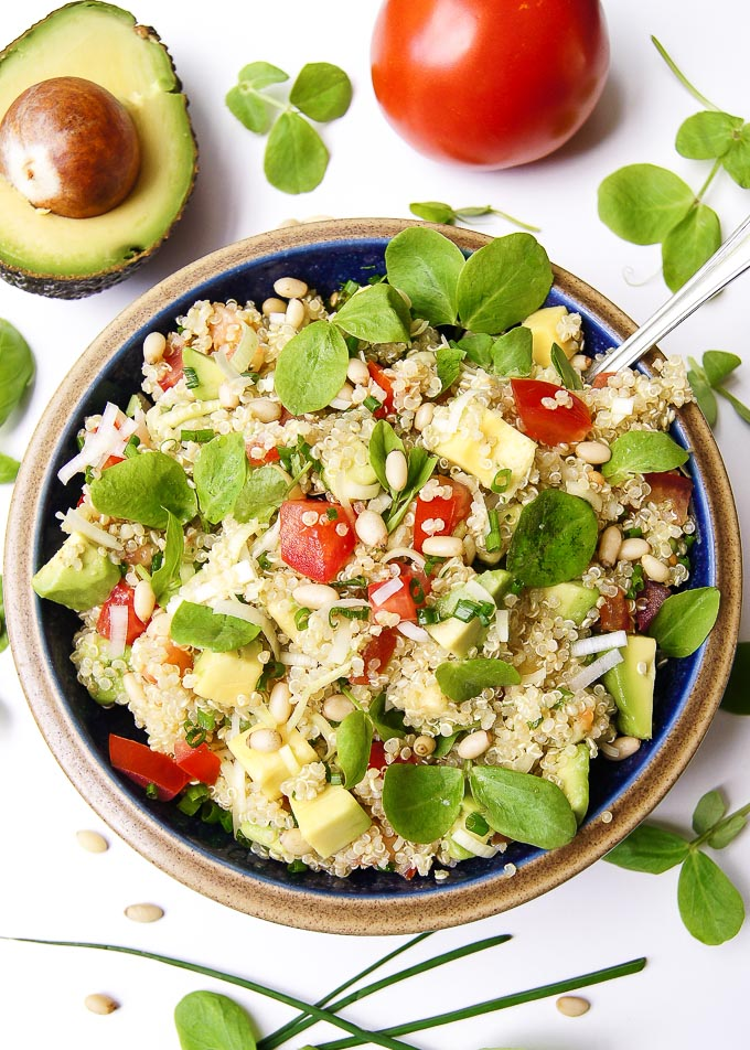 Avocado and Tomato Quinoa Salad