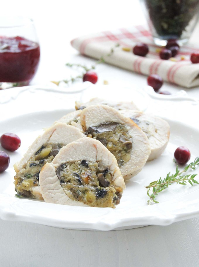 Thanksgiving Mushroom & Pine Nuts Stuffed Turkey Tenderloin is a wonderfully flavorful celebration dish - easy to prepare in 15min recipe.