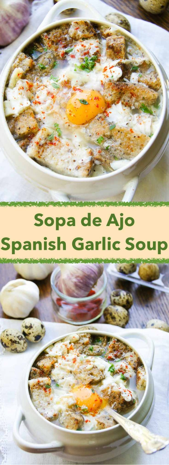 Born as a peasant dish, traditional Sopa De Ajo - Spanish Garlic & Bread Soup - impresses with its aroma, comfort & cold curing qualities. Tasty, easy & healthy.