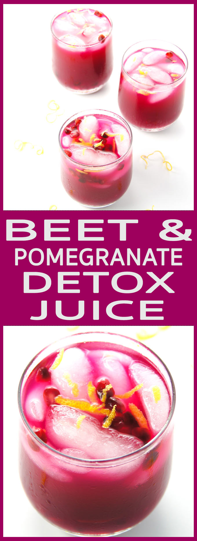 Delicious, 4 ingredient Beet and Pomegranate Detox Juice has a great cleansing, antioxidants replenishing and stamina supporting superpower.