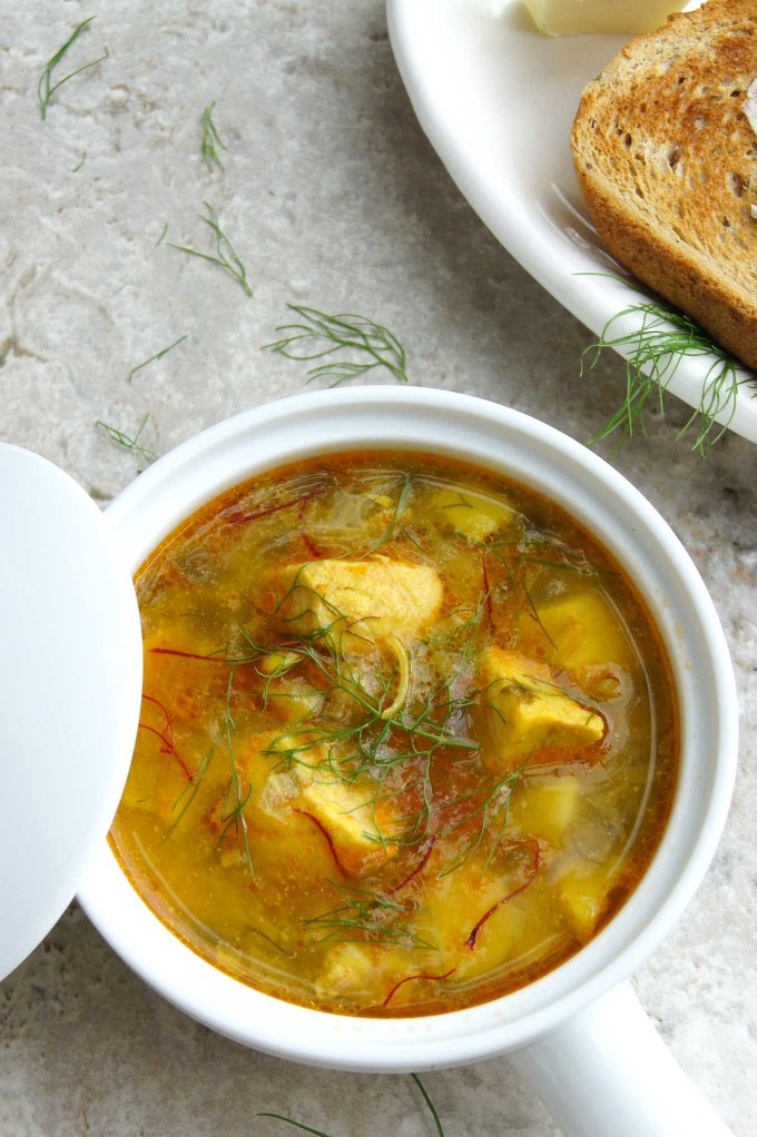 Absolutely delicious, easy Bouillabaisse recipe - healthy, traditional French fish stew, which anyone can put together in 30 min.