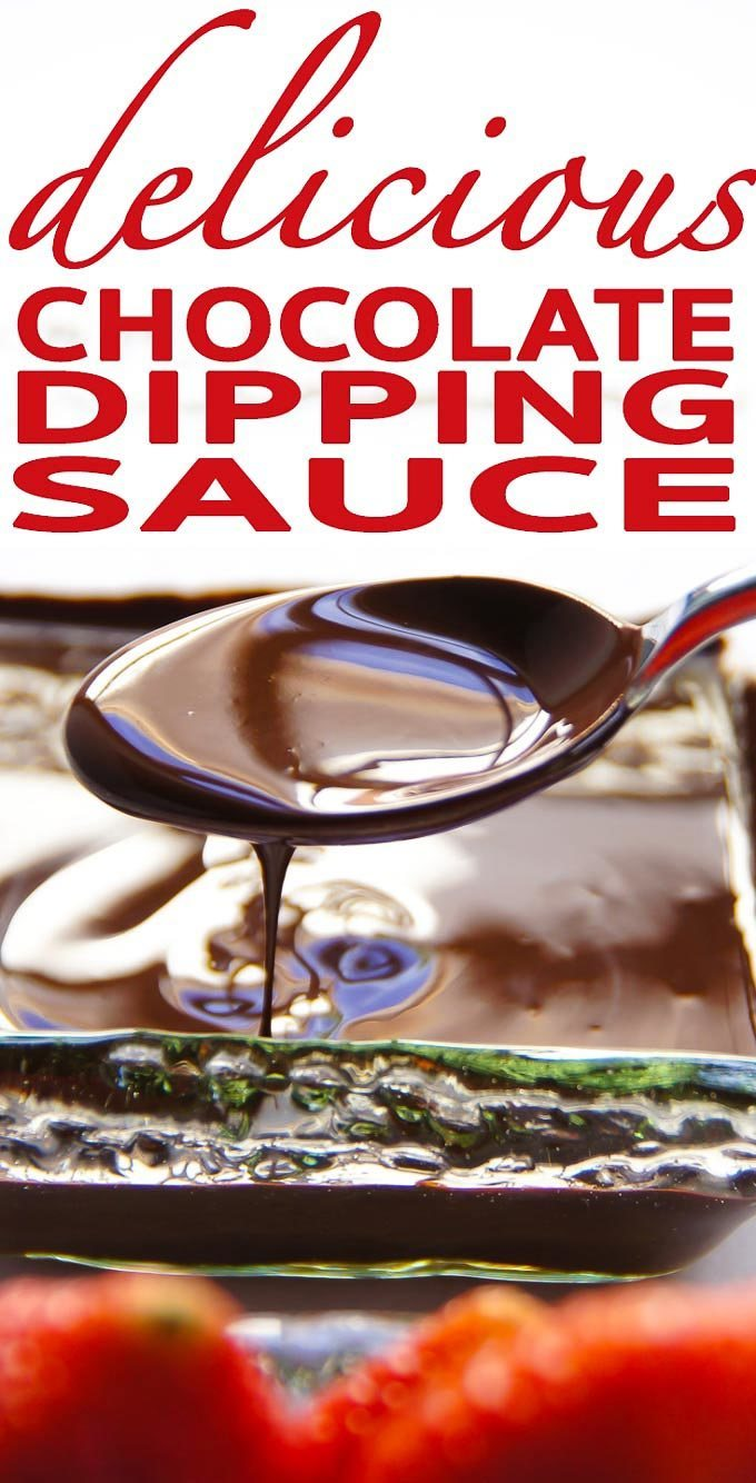 Chocolate Dipping Sauce - 5min, 4 ingredients, chocolate lover's secret. Easy recipe for chocolate dipped strawberries or other fruit.