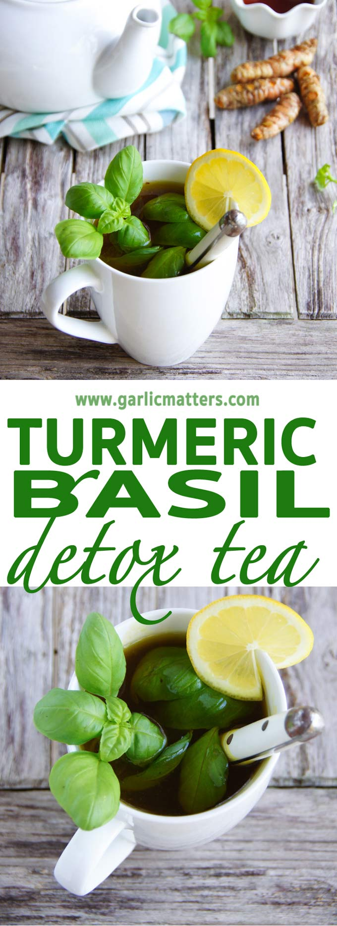 Wonderfully aromatic, 5 min Turmeric Basil Detox Tea is a powerhouse of vitamins and antioxidants for your body and soul.