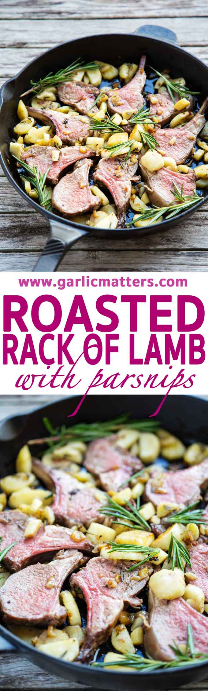 Roasted Rack of Lamb with Parsnips recipe is a delicious and quick - a must try this Spring. Brilliant dish, perfect for an Easter meal too!