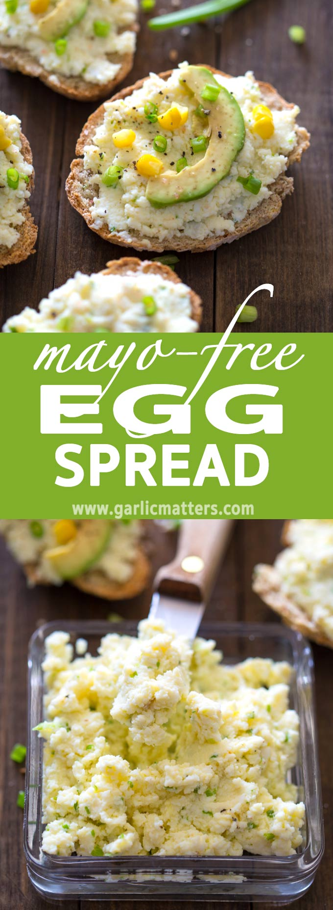 3 ingredients Mayo-Free Egg Spread Recipe and 60 seconds is all you need to celebrate spring in truly delicious style. Easy and clean.