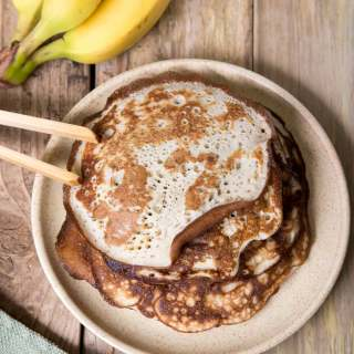 BANANA SOURDOUGH PANCAKES