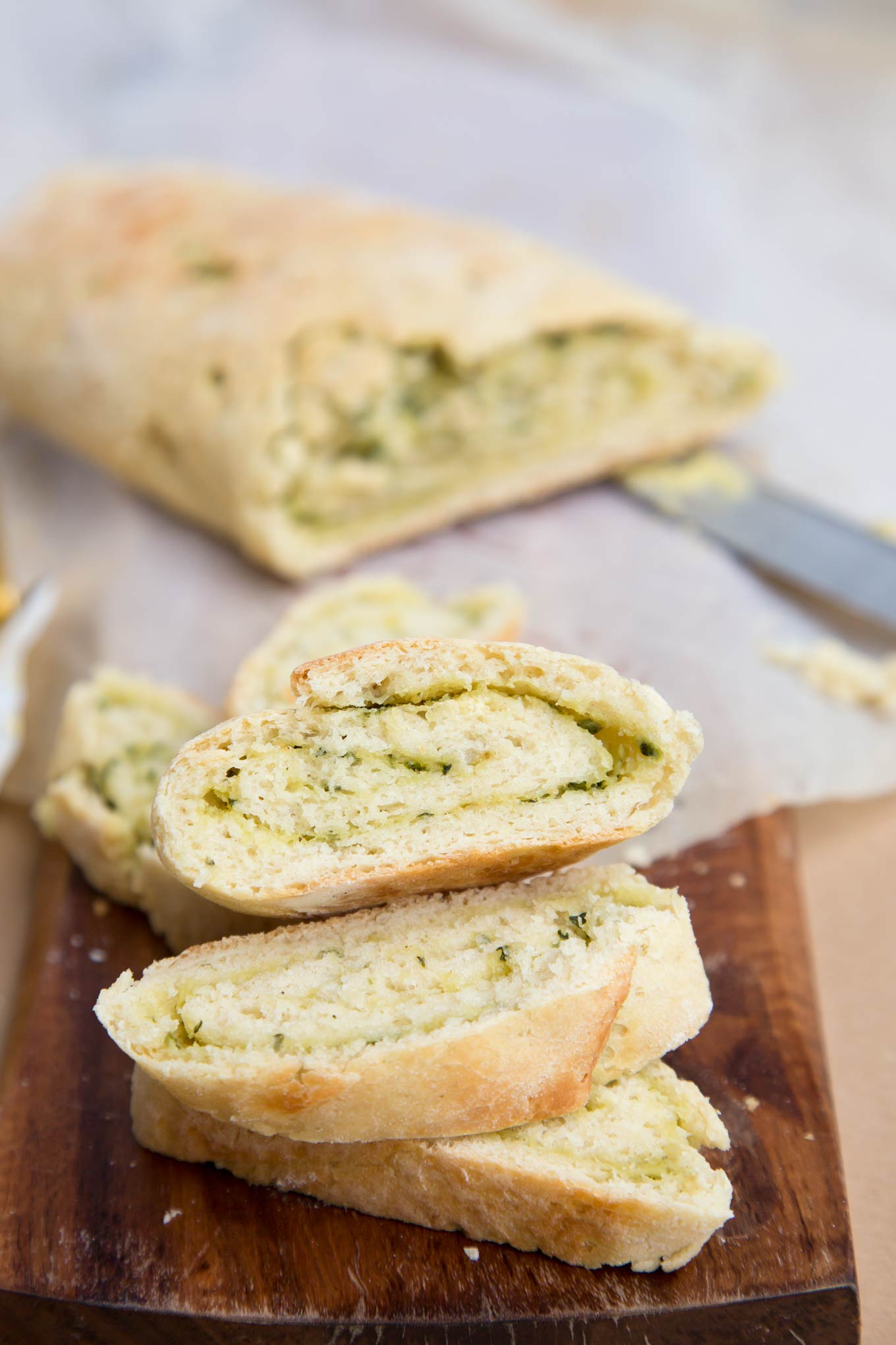 Delicious Roasted Garlic Bread Roulade recipe is a perfect weekend bake. Lovely, flavoursome appetizer or base for canapés.