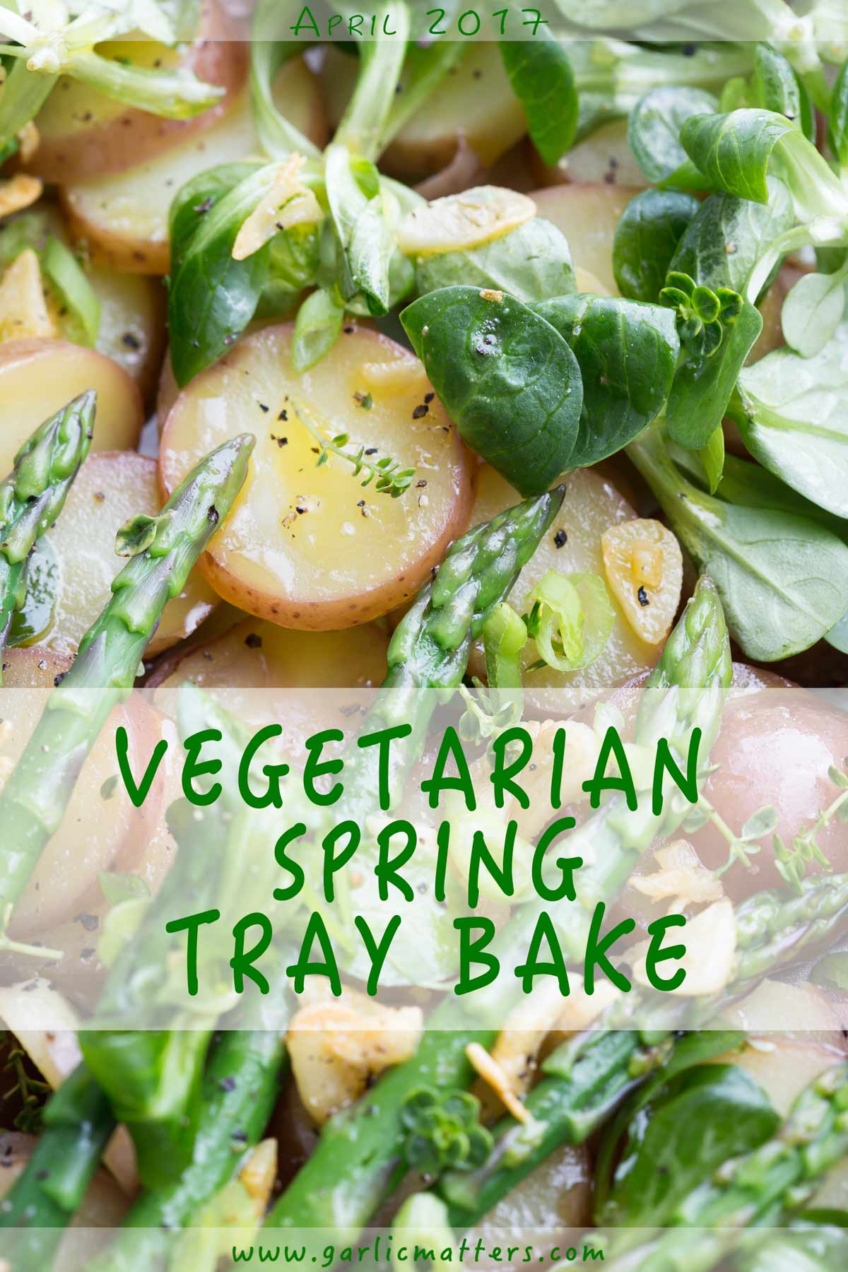 Vegetarian Spring Tray Bake is a real Spring lunch feast crowd pleaser. Simply delicious!