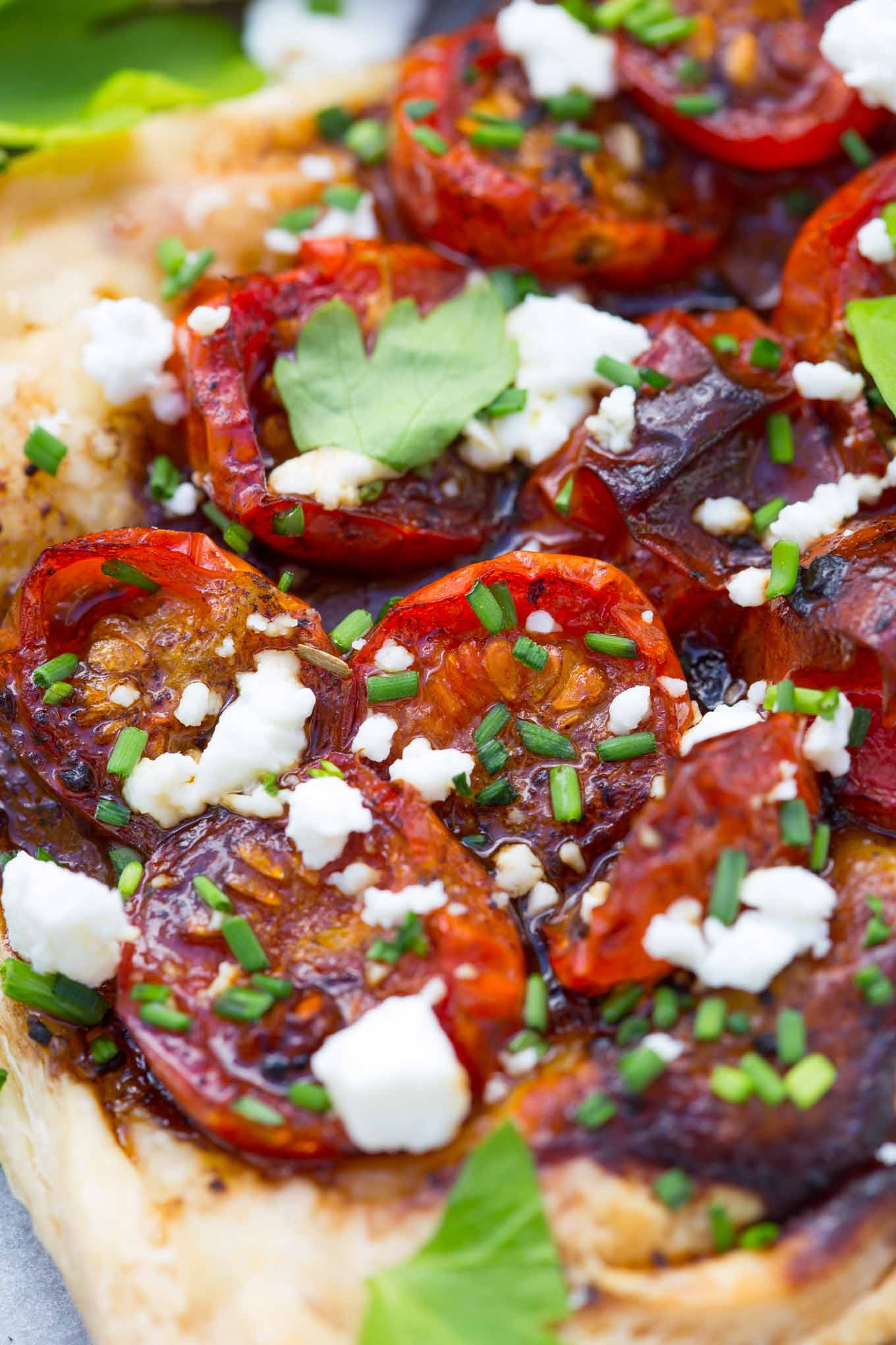 These Easy Cherry Tomato Tarts with Black Garlic Honey Dressing simply melt in the mouth!