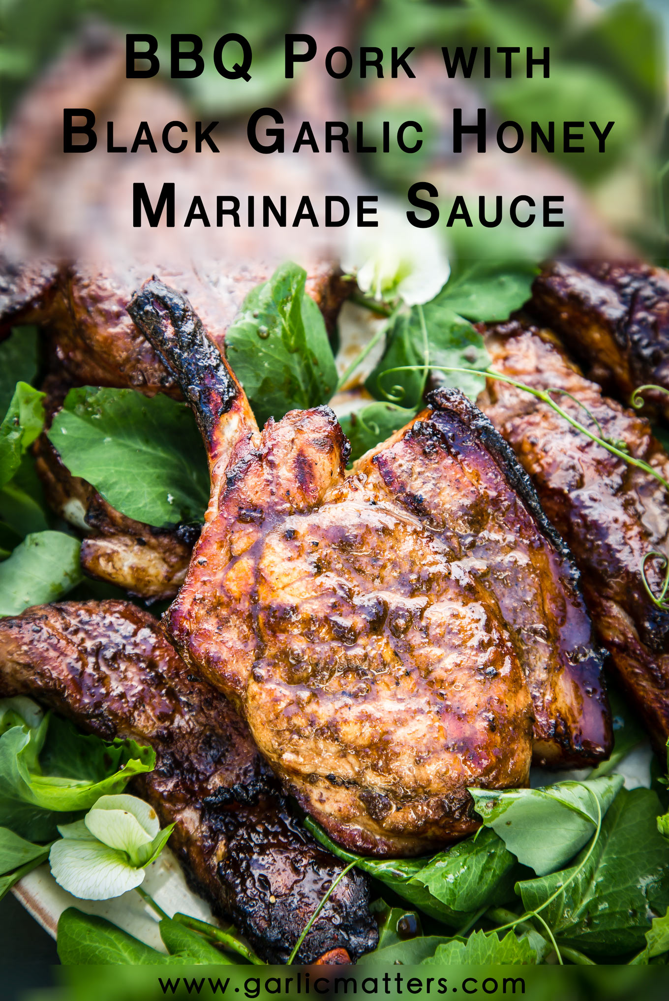 Easy BBQ Pork with Black Garlic Honey Marinade Sauce ticks all the 'finger-licking BBQ dish' boxes. 30 min recipe.