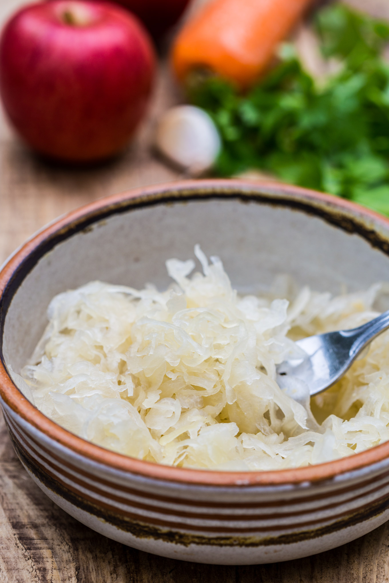 3 ingredients vegan sauerkraut salad recipe garlic matters sauerkraut dishes just like this one are rightfully known as fantastic natural probiotics kefir as another probiotic food flagship example forumfinder Image collections