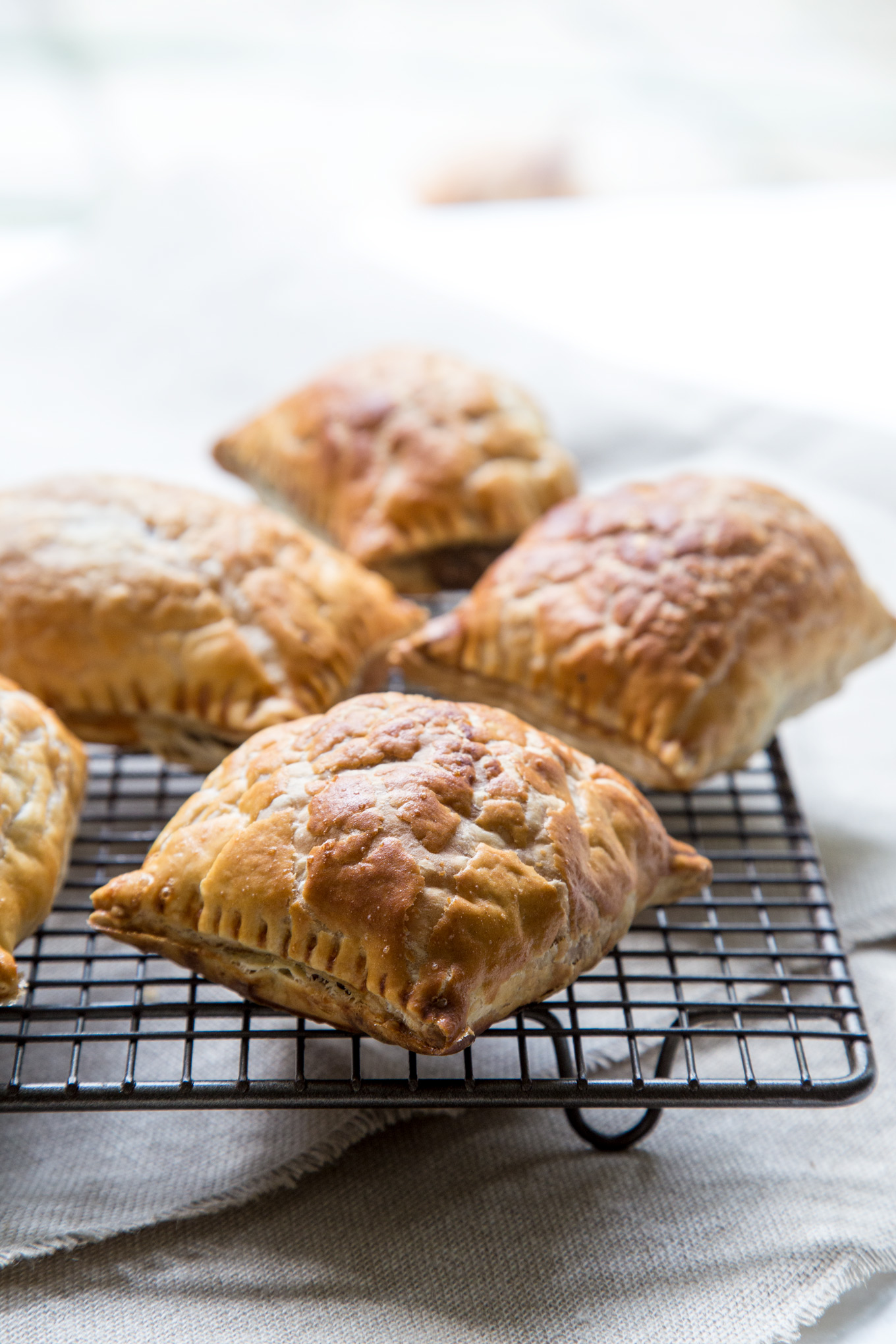 Pumpkin and Mushroom Puffs Recipe - delicious, buttery puff pastry filled with rich and nutty filling.