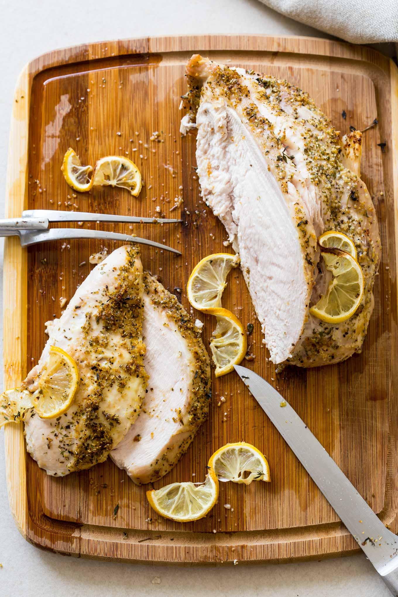 Juicy Turkey Breast Secrets - easy recipe for a bone in oven roasted turkey breast.
