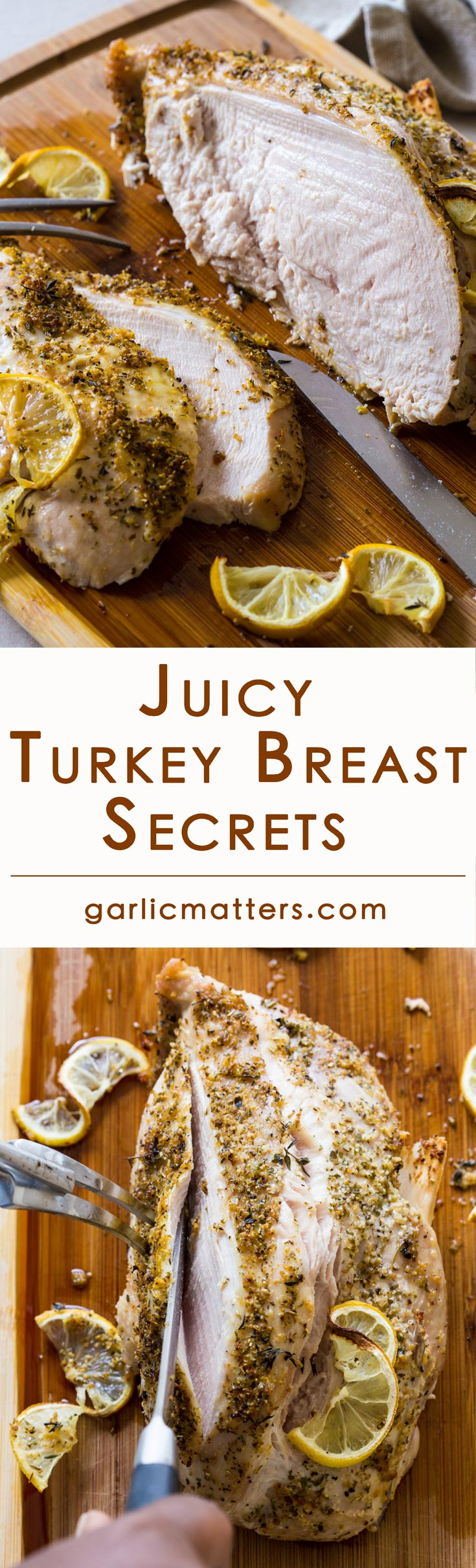 Come on in to discover my Juicy Turkey Breast secrets! This is an easy, straight forward 50 min in total recipe for an oven roasted, bone in (2 ½ lb) perfect turkey breast. You'll want to bake it time and time again, even outside the festive season to have for dinner or use in sandwiches or salads.