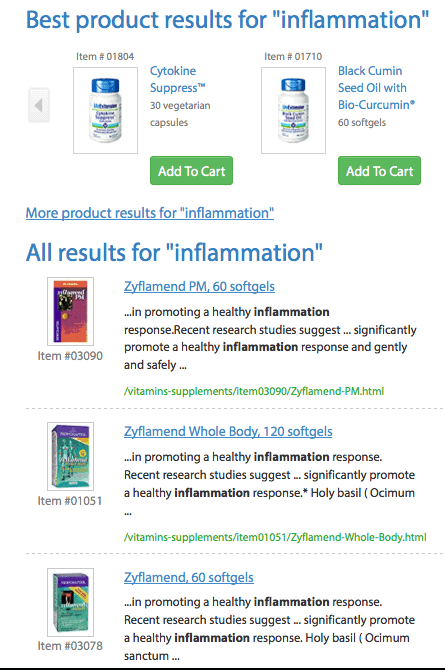 Inflammation Supplements
