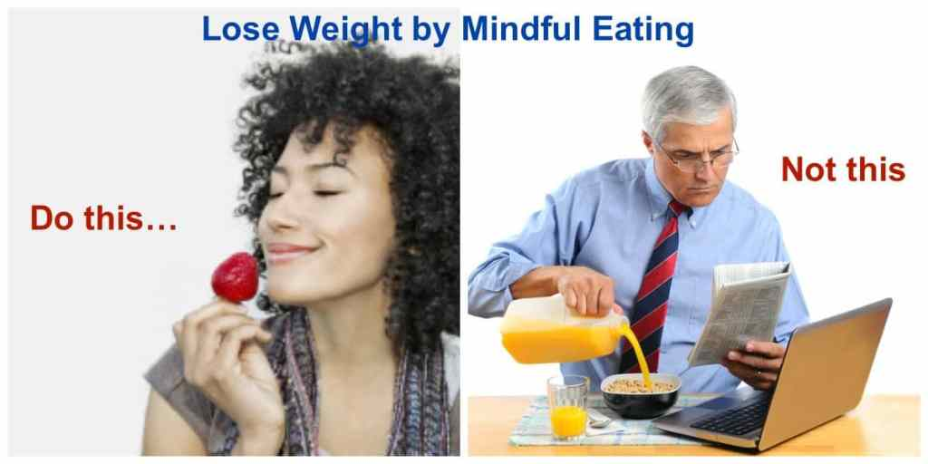lose weight via mindful eating