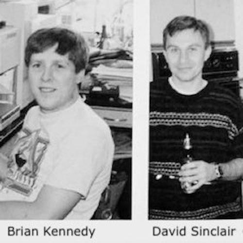 Lab mates Professor Brian Kennedy and David Sinclair