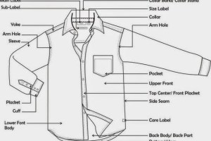 parts of long sleeve woven shirt