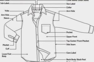 parts of long sleeve woven shirt