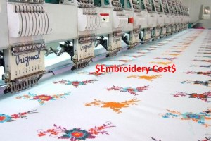 Embroidery Cost in Garments