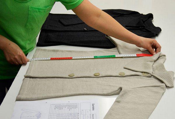 Final inspection of garments