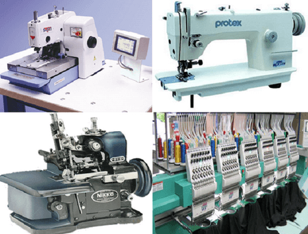 Different Garment machine used in RMG industry