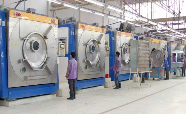 Garment washing plant