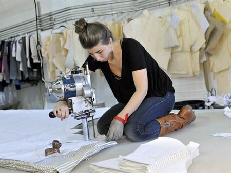 Sample room in reaymade garment industry