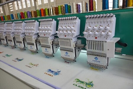Embroidery section in apparel industry