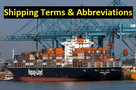 Shipping terms and abbreviation for international trade business