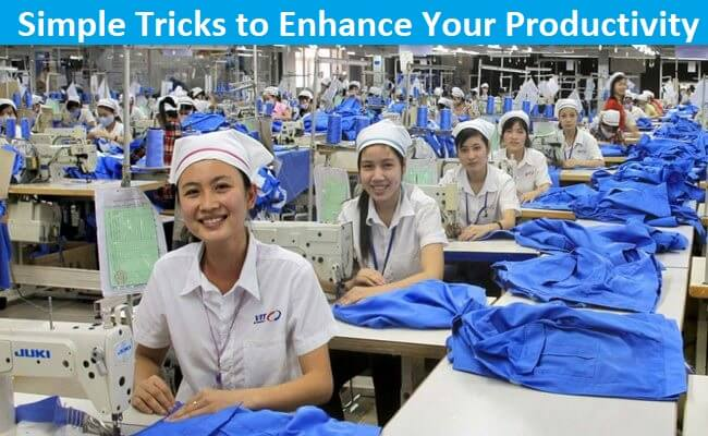 Productivity improvement techniques in clothing sector