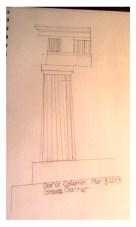 Sketch of Doric Column