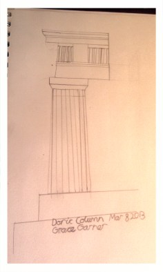 Sketch of Doric Column