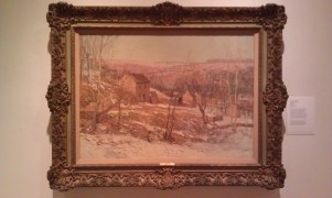 Winter in the Valley, Edward Willis Redfield painted with the New Hope Colony