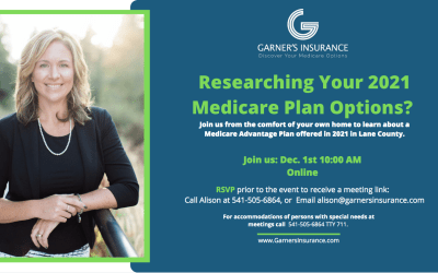 December 1st Virtual Event – Medicare Advantage Plan in Lane County
