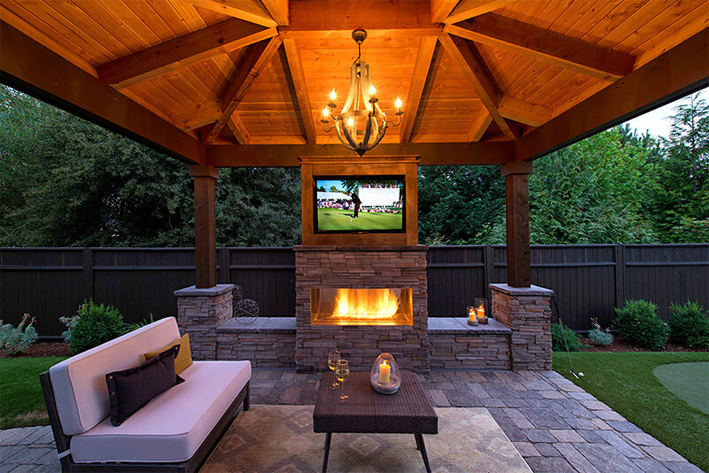 can i use an indoor tv outside