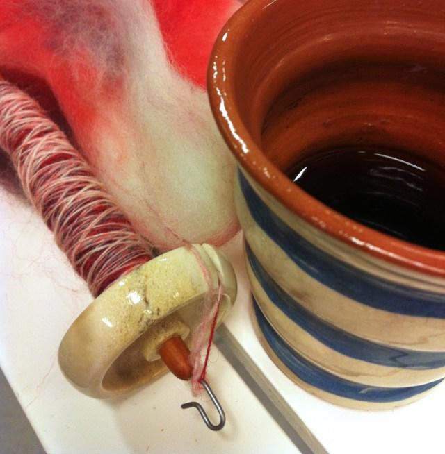 Bosworth Moosie spinder shetlandsuld til kaffen