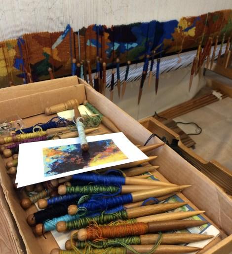 Kunstnerens arbejdsbord