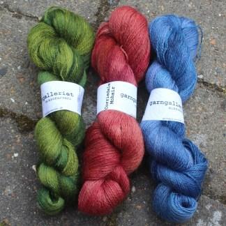 Håndfarvet Corriedale/Mohair