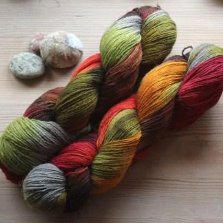 Håndfarvet BFL/alpaca