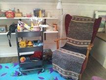 The artist's chair.