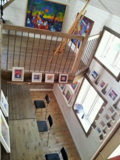 A bright, airy, inspiring work place and gallery.