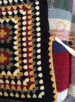 Treble crochet stitches