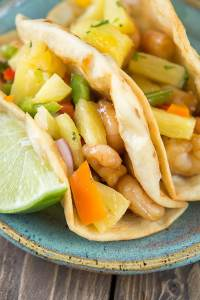 Teriyaki Shrimp Tacos