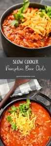Slow Cooker Pumpkin Beer Chili