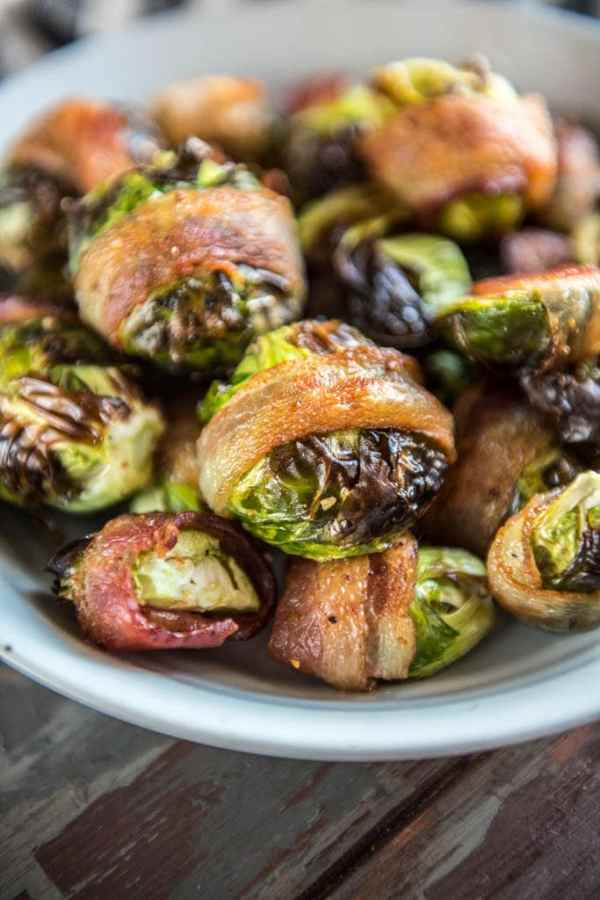 Air Fryer Bacon Wrapped Brussels Sprouts
